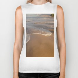Gentle Waves on Beach Biker Tank