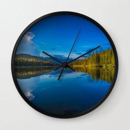 Peaceful Lake Panorama Wall Clock