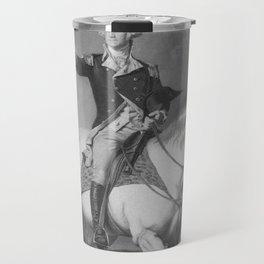 Washington Receiving A Salute At Trenton Travel Mug