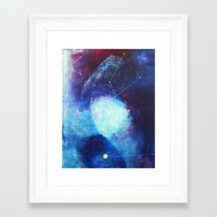 constellation Framed Art Prints featuring constellation by Oana Popan