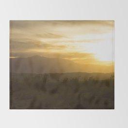 Desert Mountains Throw Blanket
