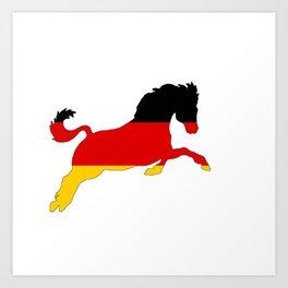 German Flag - Horse Art Print
