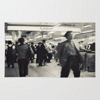 japan Area & Throw Rugs featuring Japan by Kráľ Juraj