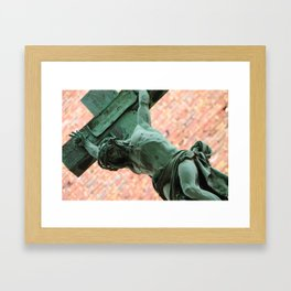 Jesus in Montparnasse Framed Art Print