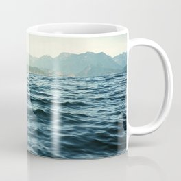 Ocean Waves.Mountains.Canada.Desolation Sound.Water Texture.35mm film. Coffee Mug
