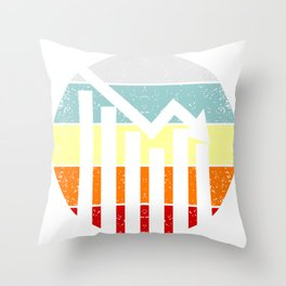 Shares Stock Exchange Throw Pillow