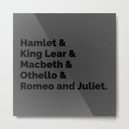 The Shakespeare Plays II Metal Print