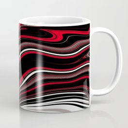 IMPULSION flowing shapes in classic color combo Coffee Mug