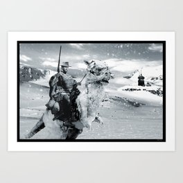 Man with No Name on Hoth Art Print