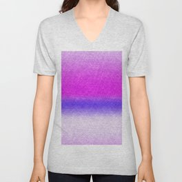 Abstract lilac blue pink geometrical ombre Unisex V-Neck