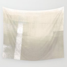 Cream and Taupe Geometric Abstract Wall Tapestry