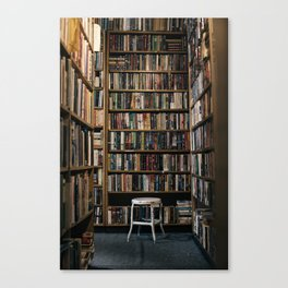 lost in the library. Canvas Print