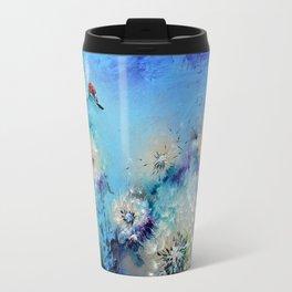 Flirt - Ladybug On Dandelion Travel Mug