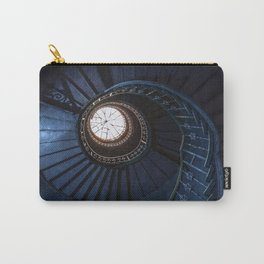 Abandoned blue spiral staircase Carry-All Pouch