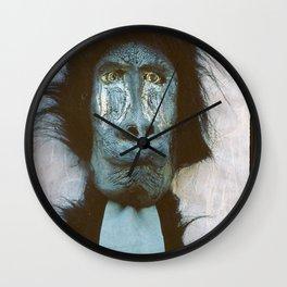 Blue Baboon Wall Clock
