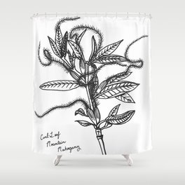 Curl-Leaf Mountain Mahogany Shower Curtain