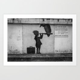 Banksy in Calais Art Print