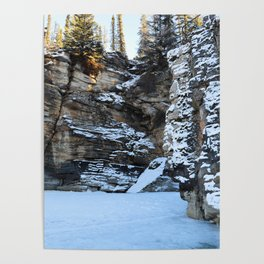Lower Athabasca Falls, Canada Poster