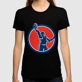 Basketball Player Rebounding Lay-Up Ball Circle T-shirt