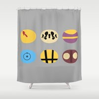 watchmen Shower Curtains featuring Less is Moore by Chayground
