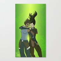 korrasami Canvas Prints featuring Korrasami by Dee Draws