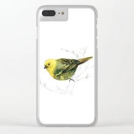 Mr Mohua , yellowhead New Zealand native bird Clear iPhone Case