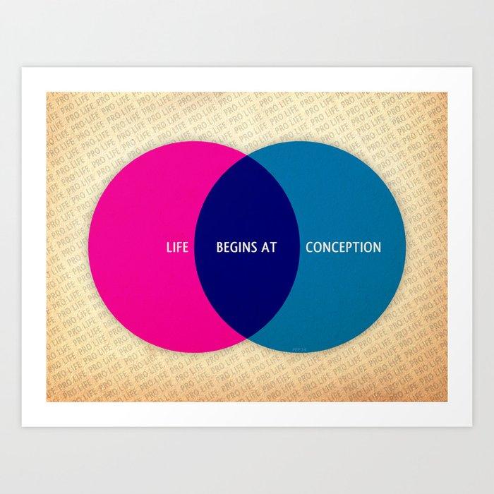 Life Begins At Conception Art Print