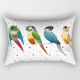 Green cheek conures Rectangular Pillow