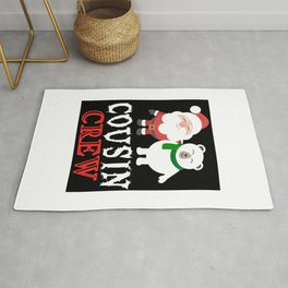 Cousin Crew Santa Christmas Funny Gift For Boys Girls Rug