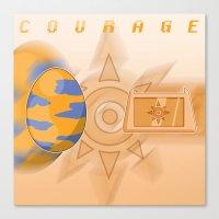 digimon Canvas Prints featuring Digimon: Courage by Deco-kun