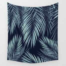 Palm Leaf Jungle Night Vibes #1 #tropical #decor #art #society6 Wall Tapestry