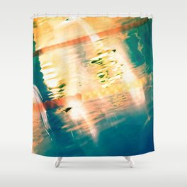 Swimming Pool 01A - Abstract Shower Curtain
