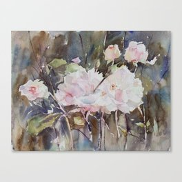 Rose Garden with Sepia Canvas Print