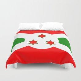 Flag of Burundi Duvet Cover