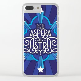 Through Hardship To The Stars Clear iPhone Case