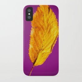 Purple in Autumn Leaf iPhone Case