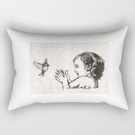 Little bird, Little girl Rectangular Pillow