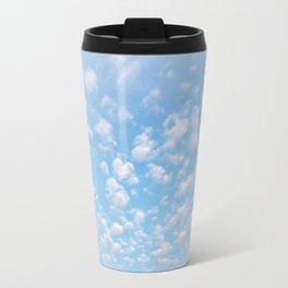 The bright blue sky in my backyard Travel Mug