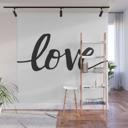 Love Black Wall Mural