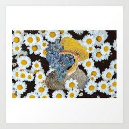 Van flowers Art Print