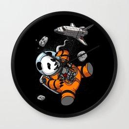 Panda Bear Space Astronaut Cosmic Animal Wall Clock