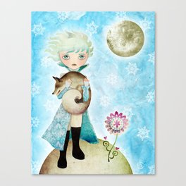 Wintry Little Prince Canvas Print