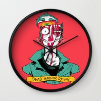 musa Wall Clocks featuring dead and/or dying by musa