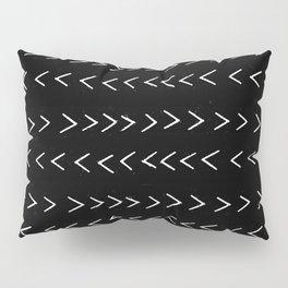 mudcloth 14 minimal textured black and white pattern home decor minimalist beach Pillow Sham