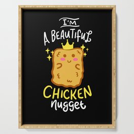 Funny Chicken Nugget Nug Life Fast-Food Junk Gift Serving Tray
