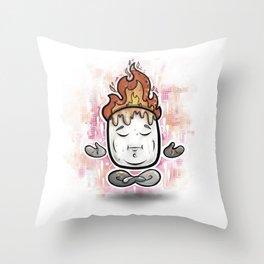 Mellow Mallow - Meditation Marshmallow Throw Pillow
