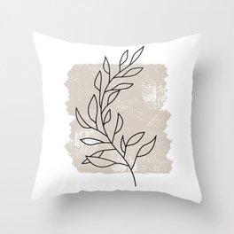 Botanical Line No 1 Throw Pillow