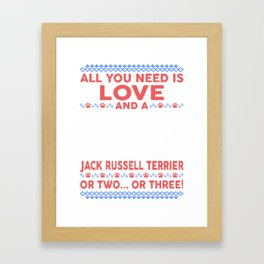 Jack Russell Terrier Ugly Christmas Sweater Framed Art Print