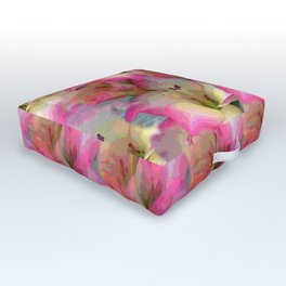 In the Flower Garden Outdoor Floor Cushion