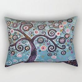 abstract Art Landscape Original Painting ... Dancing In the Light Rectangular Pillow